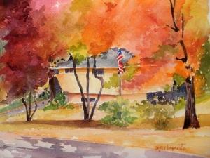 Park Flag, watercolor