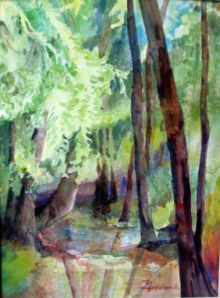 Trees, watercolor