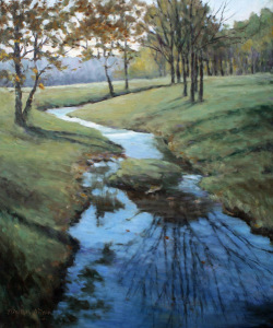 Brown County Stream, oil