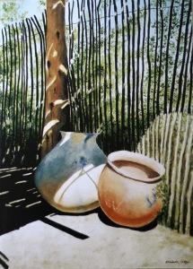 Pima Indian Shade, watercolor