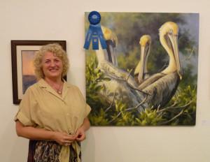 'Tree Top Trio' oil by Theresa Shelton