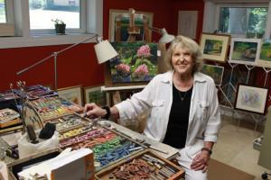 Joyce Lupresto at work in her studio