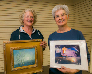 Theresa Shelton and Mary Lou Hall tied for May 'Artist of the Month'